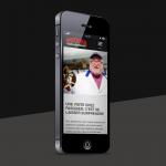 Écran de cellulaire dans lequel on voit le site Web de Pasquier