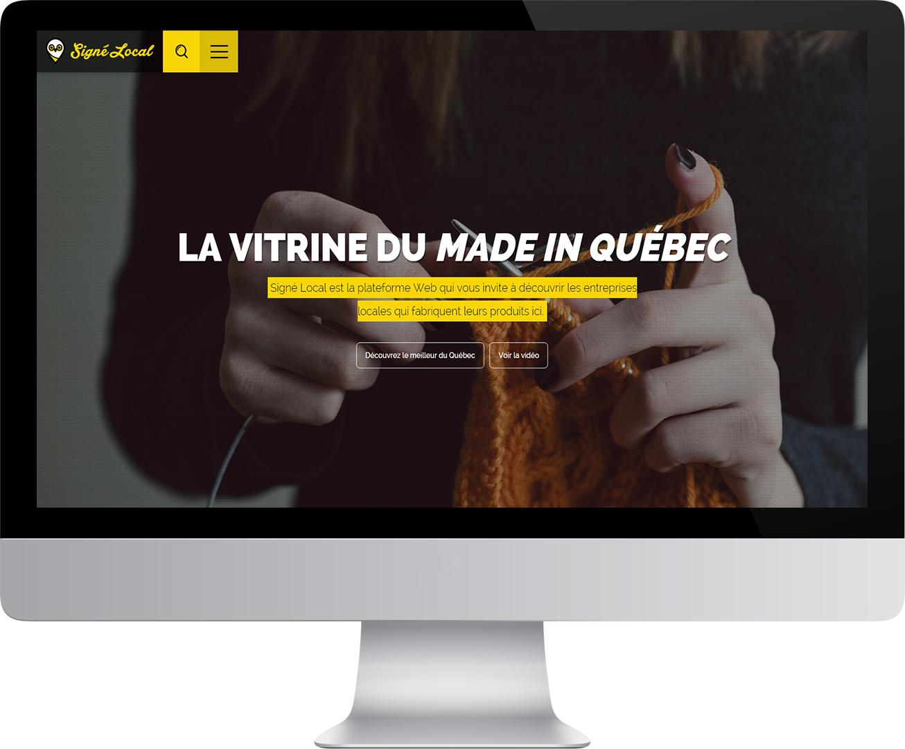 Site Web de Signé Local dans un écran d'ordinateur