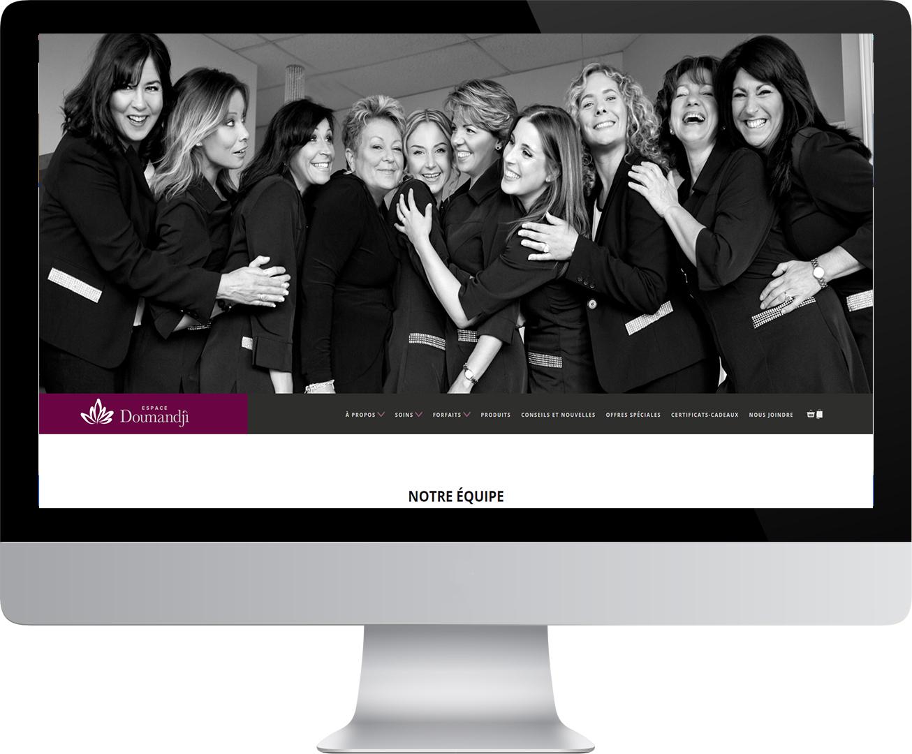 Site Web d'Espace Doumandji dans un écran d'ordinateur